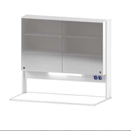 Технологический стеллаж со шкафом 900 мм для пристенного стола Mod. -1500 ТСПШ-90