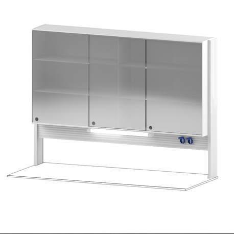 Технологический стеллаж со шкафом 900 мм для пристенного стола Mod. -1800 ТСПШ-90