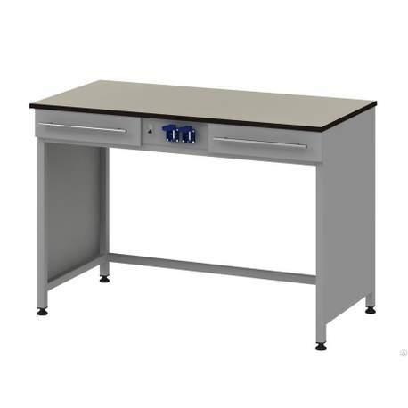 Стол для хроматографа с 2-мя ящиками и блоком розеток Mod. -1200 СХ2ЯLg