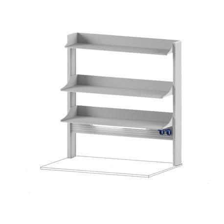 Технологический стеллаж для приборов высокий для пристенного стола Mod. -1200 ТСПРв