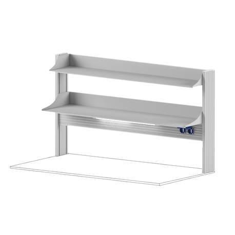 Технологический стеллаж для приборов низкий для пристенного стола Mod. -1500 ТСПРн