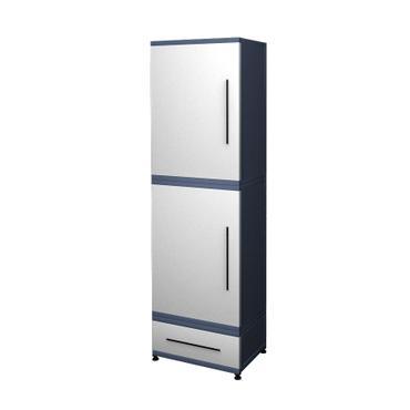 Шкаф для хранения с ящиком Есо (двери металл-металл)