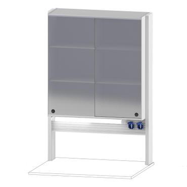 Технологический стеллаж со шкафом 900 мм для пристенного стола Mod. -900 ТСПШ-90