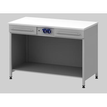 Стол для хроматографа с 2-мя ящиками и блоком розеток Mod. -1200 СХ2ЯЛ