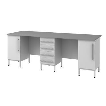 Стол пристенный высокий на опорных тумбах Mod. -2400 СПТDr в