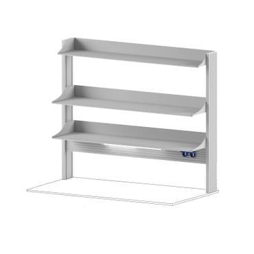 Технологический стеллаж для приборов высокий для пристенного стола Mod. -1500 ТСПРв