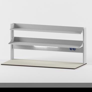 Технологический стеллаж для приборов низкий для пристенного стола Mod. -1800 ТСПРн