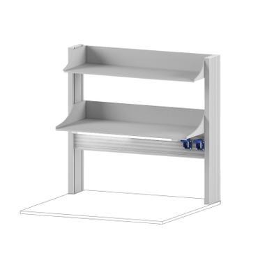 Технологический стеллаж для приборов низкий для пристенного стола Mod. -900 ТСПРн
