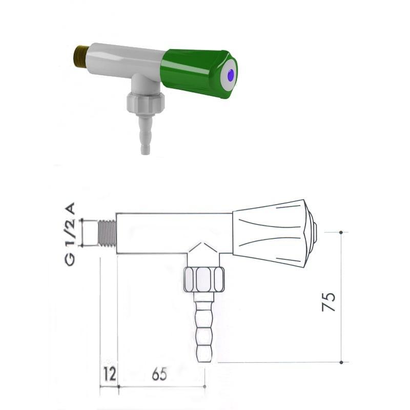 Кран для воды из полипропилена art1000-600