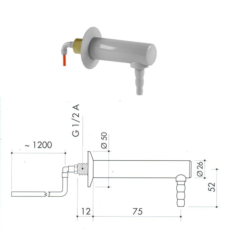 Кран для воды из полипропилена art1000-656