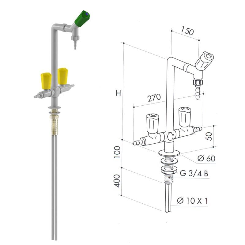 Кран газовый art5000-10