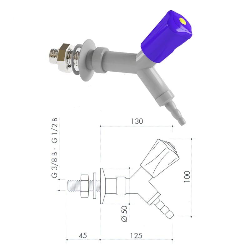 Кран для сжатого воздуха art3000-136