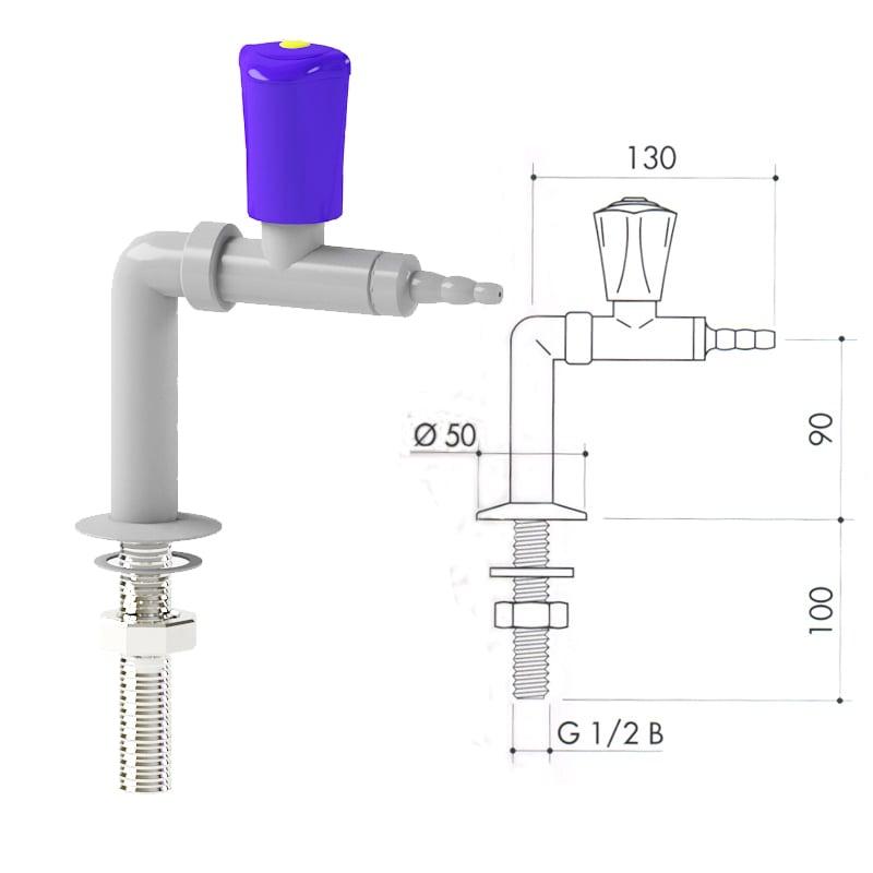 Кран для сжатого воздуха art3000-45