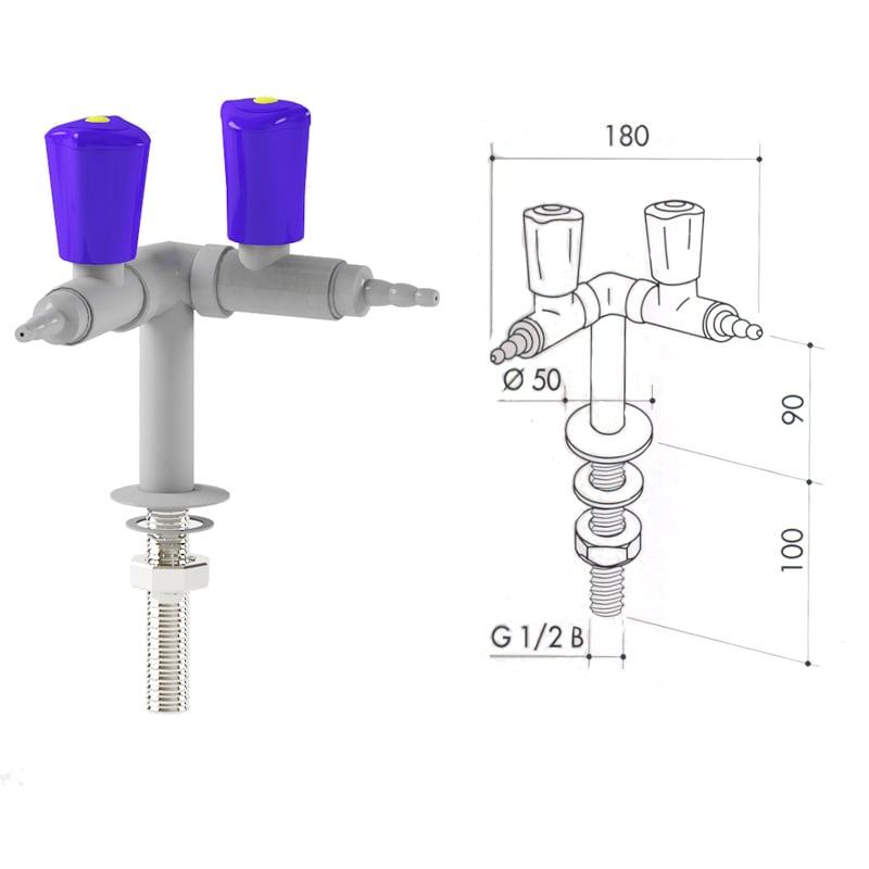 Кран для сжатого воздуха art3000-55