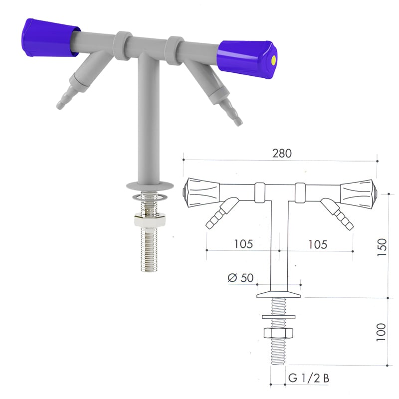 Кран для сжатого воздуха art3000-70