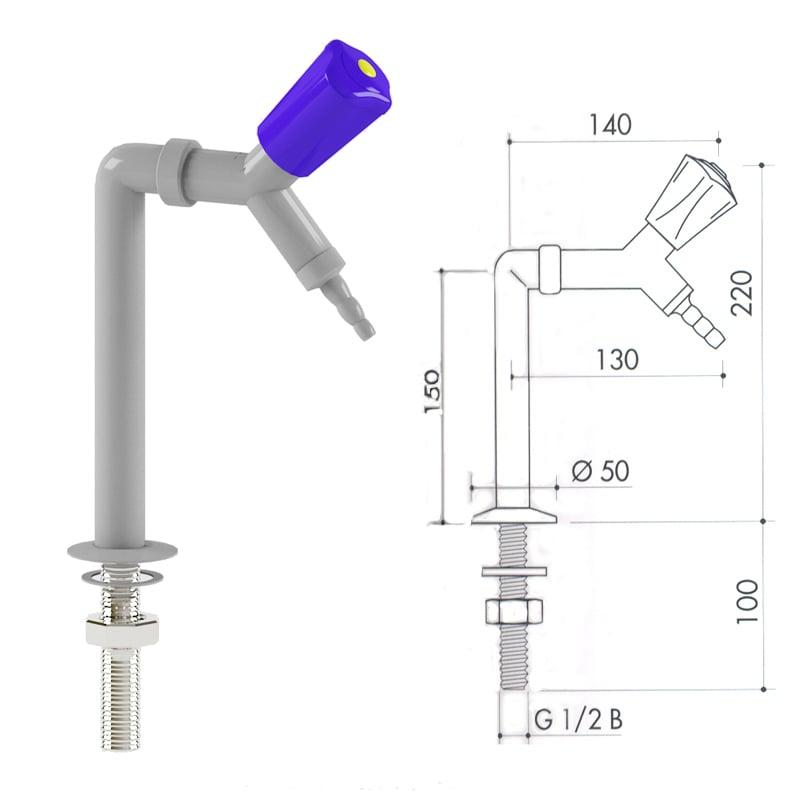 Кран для сжатого воздуха art3000-85