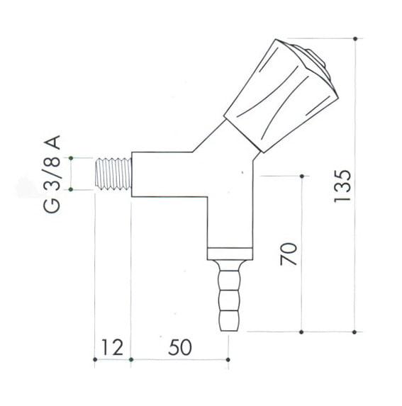 Кран для вакуума art2200-275