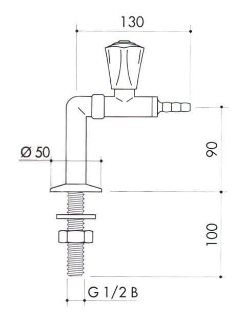 Кран для вакуума art2200-290
