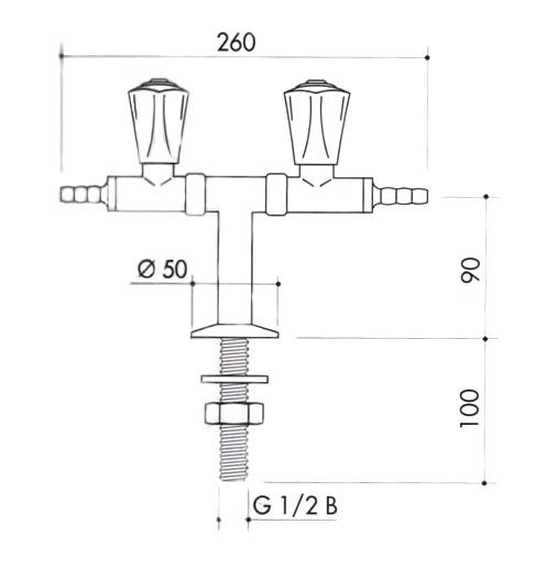 Кран для вакуума art2200-295