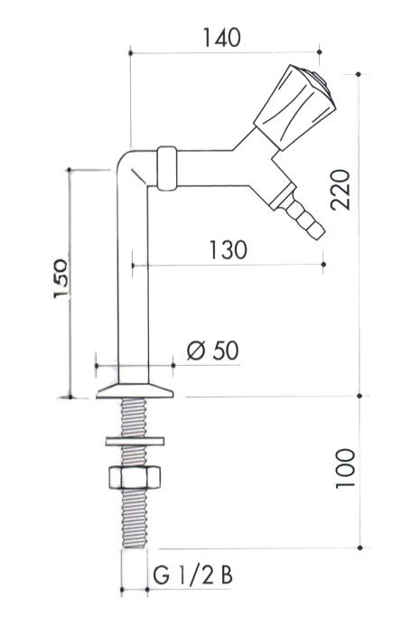 Кран для вакуума art2200-330