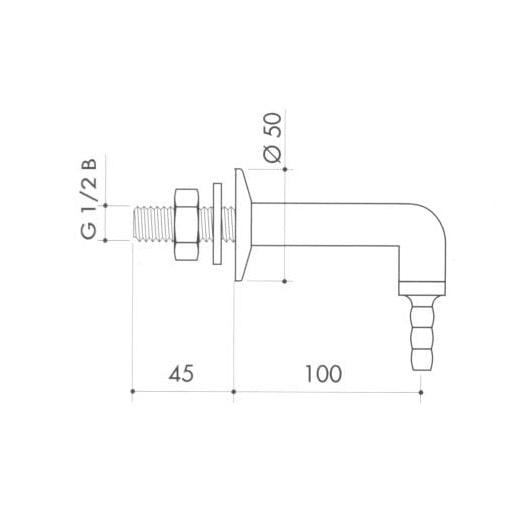 Патрубок для вакуума art7000-11