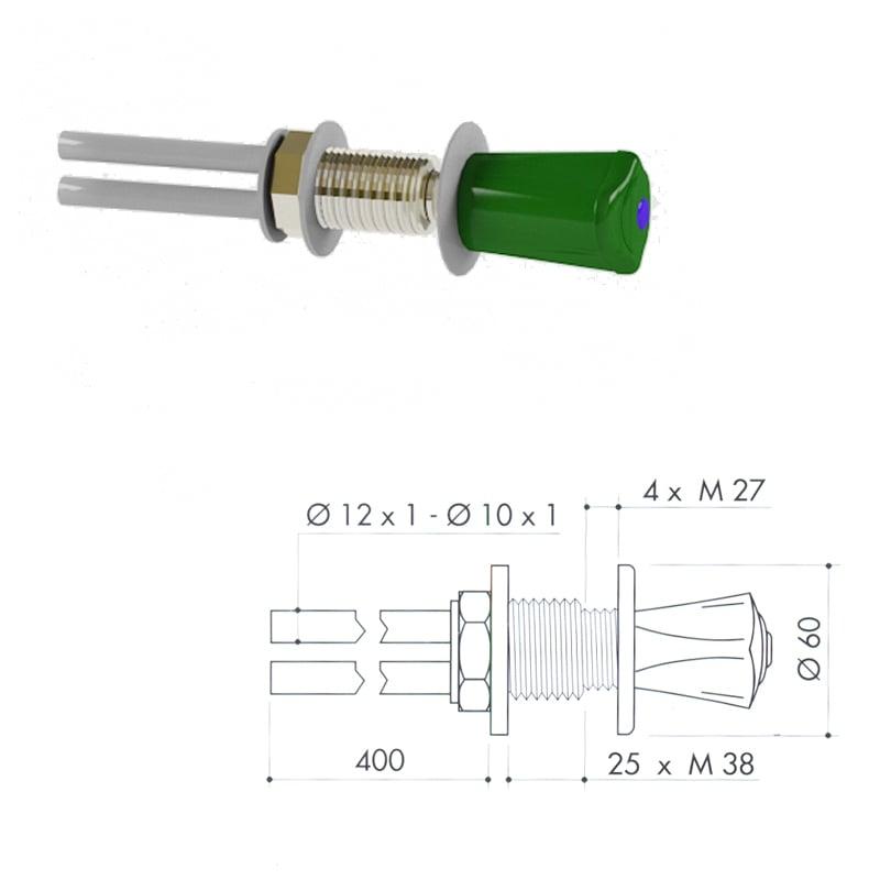 Кран для подвода воды art1000-131 - VC