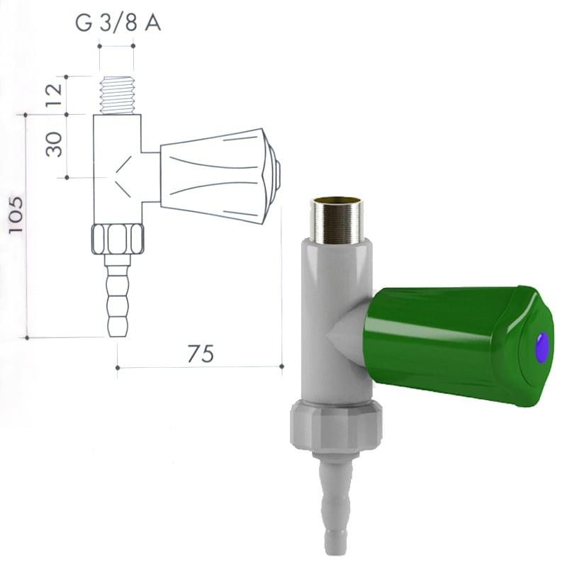 Кран для подвода воды art1000-45 - VC