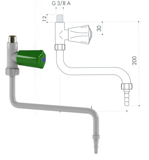Кран для подвода воды art1000-50 - VC