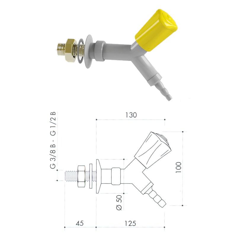 Кран для легковоспламеняющихся газов art2000-151