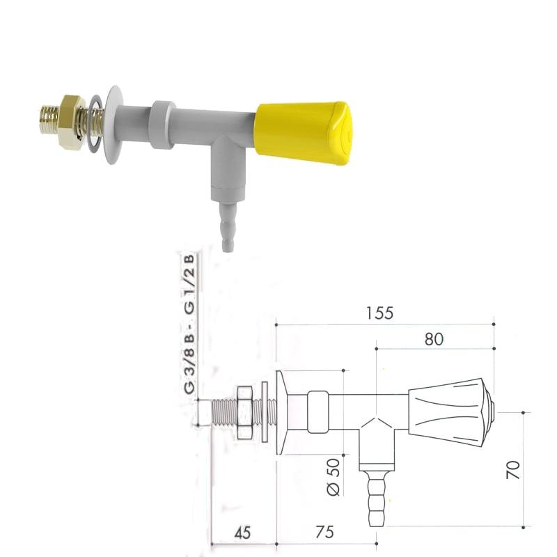 Кран для легковоспламеняющихся газов art2000-156