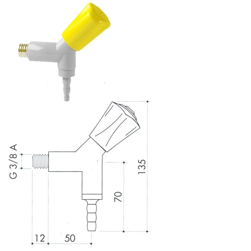 Кран для легковоспламеняющихся газов art2000-26