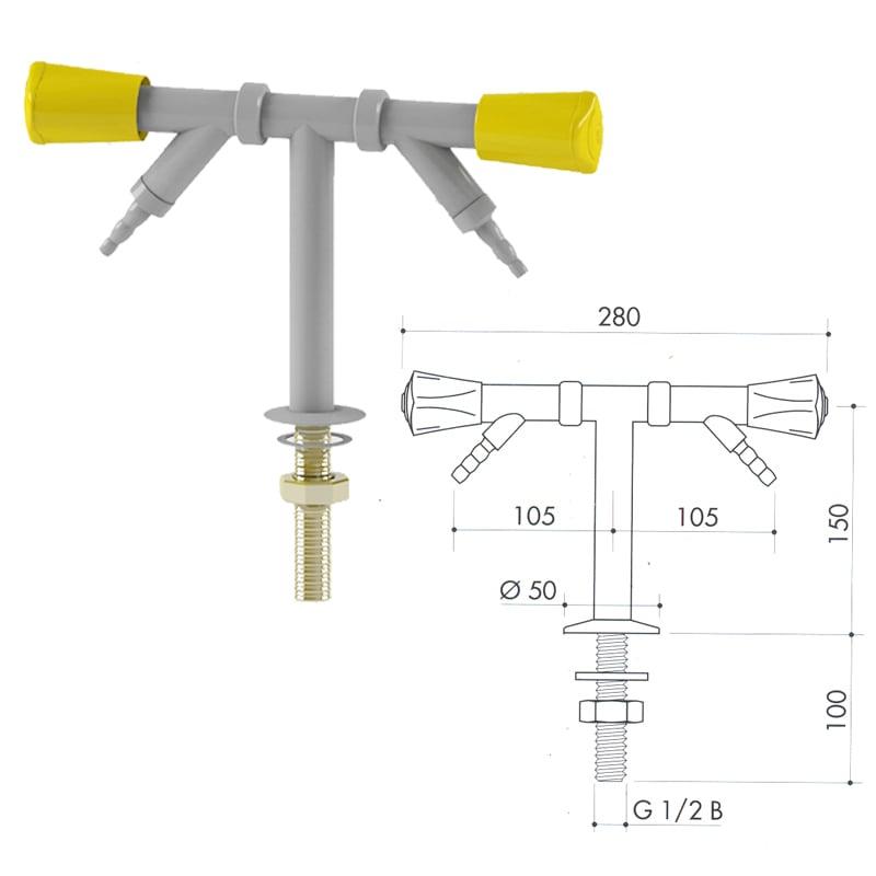 Кран для легковоспламеняющихся газов art2000-70