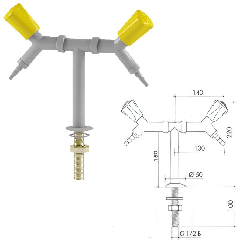 Кран для легковоспламеняющихся газов art2000-90