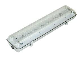 Стандартный светильник 2х18 Вт вытяжного шкафа ECO